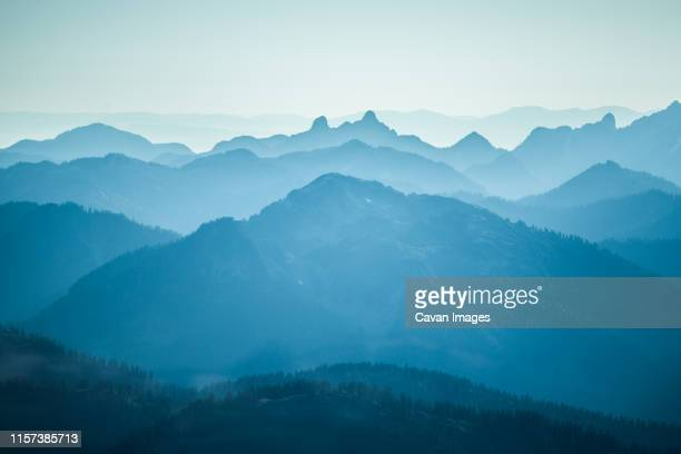 mountain landscape in southwestern british columbia - the lions stock photos and pictures
