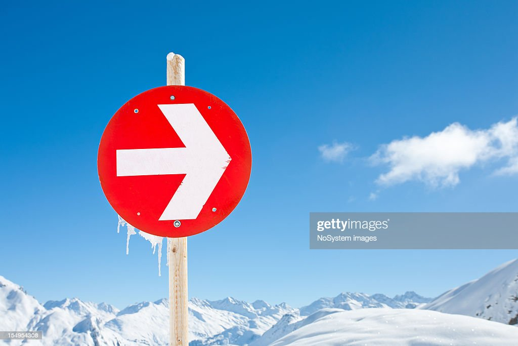 Mountain landscape in St. Anton, Austria ski resort : Stock Photo