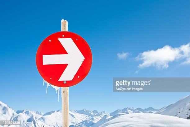 Mountain landscape in St. Anton, Austria ski resort