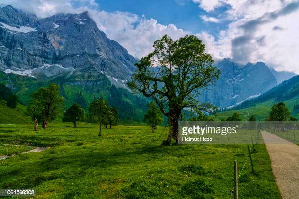 Mountain landscape in the Austrian Alps at Eng