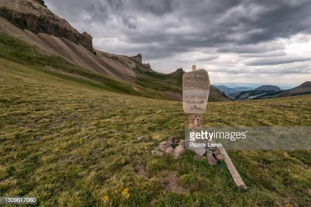 mountain landscape in the uncompahgre wilderness, colorado - clima alpino foto e immagini stock