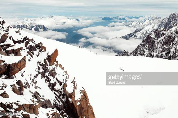 mountain landscape in winter, alps - iñaki mt stock photos and pictures