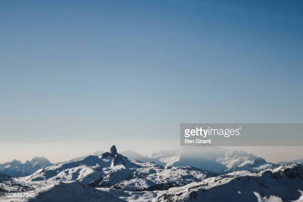 mountain landscape in winter, whistler, british columbia, canada - whistler british columbia stock pictures, royalty-free photos & images