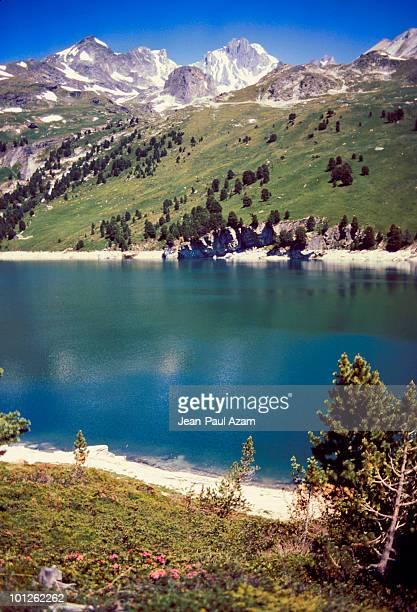 Mountain landscape, Lac des evettes, Vanoise Massif, Savoie, France