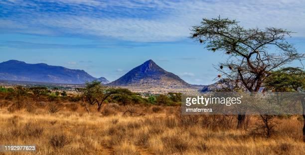 mountain landscape, masai mara national reserve, kenya - kenya stock pictures, royalty-free photos & images
