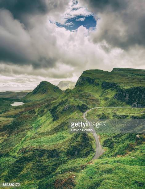 Mountain landscape near Quiraing on the Isle of Skye