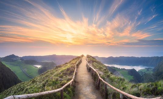 Mountain landscape Ponta Delgada island, Azores 944812540