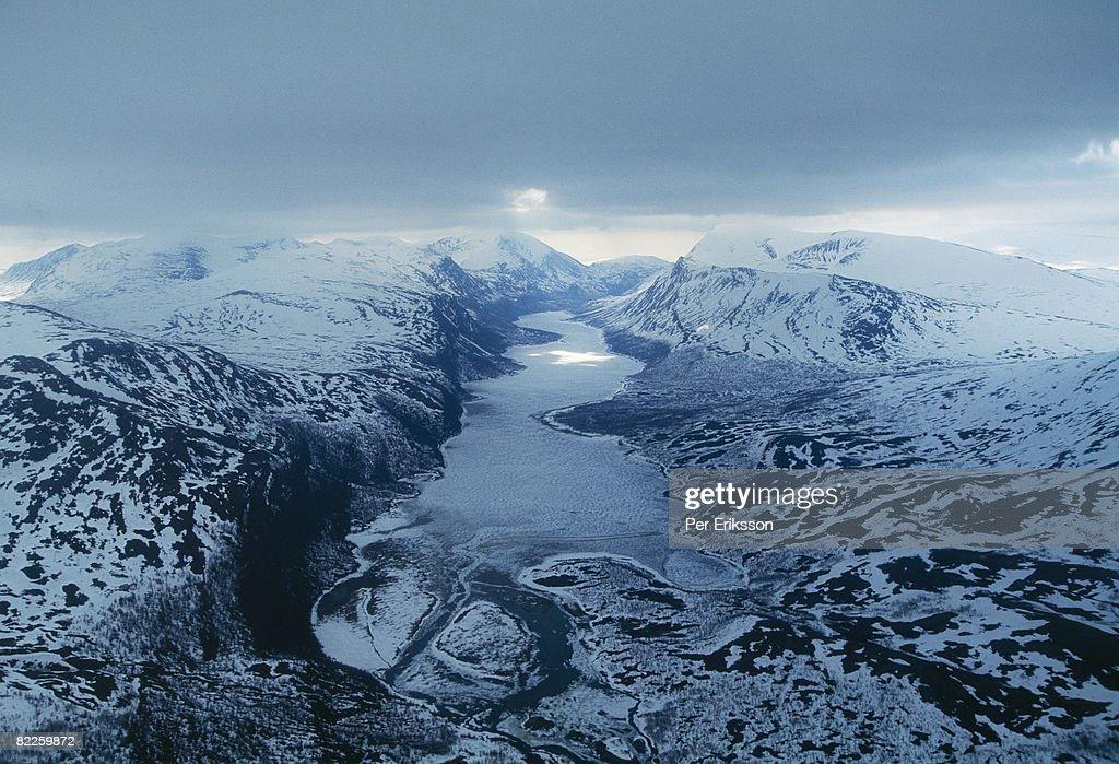 Mountain landscape Sweden. : Stock Photo
