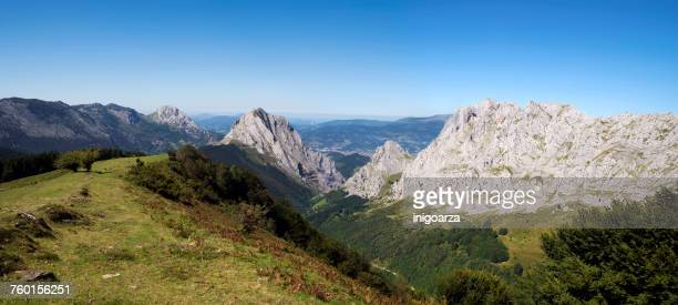 Mountain landscape, Urkiola Natural Park, Biscay, Basque Country, Spain