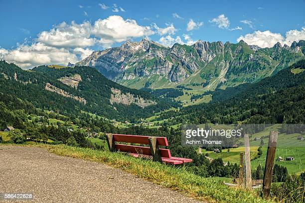 Mountain landscape, with a view to Mount Säntis, Switzerland