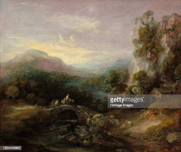 Mountain Landscape with Bridge, c. 1783/1784. Artist Thomas Gainsborough.
