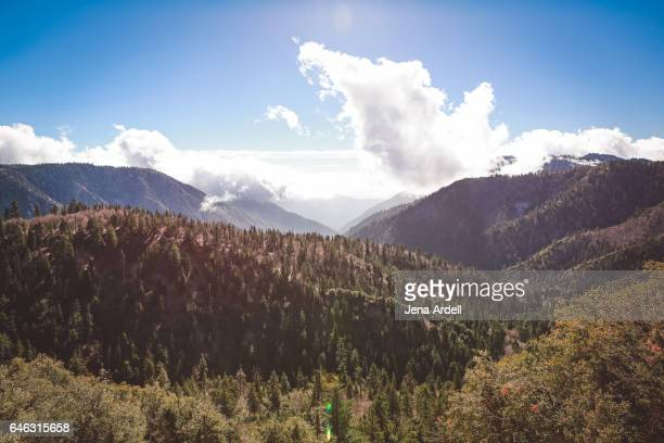 mountain landscape with clouds - big bear lake stock pictures, royalty-free photos & images