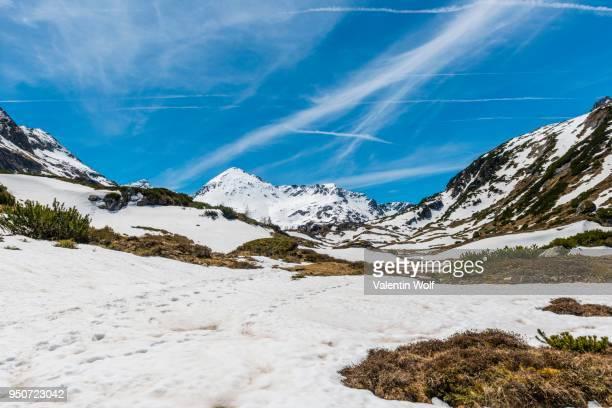 Mountain landscape with snow, Rohrmoos-Untertal, Schladming Tauern, Schladming, Styria, Austria