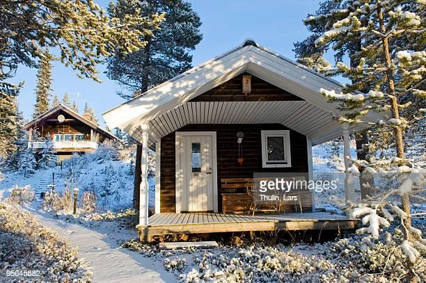 A mountain lodge, Sweden.