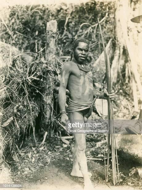 Mountain man Irian Jaya Indonesia 1912