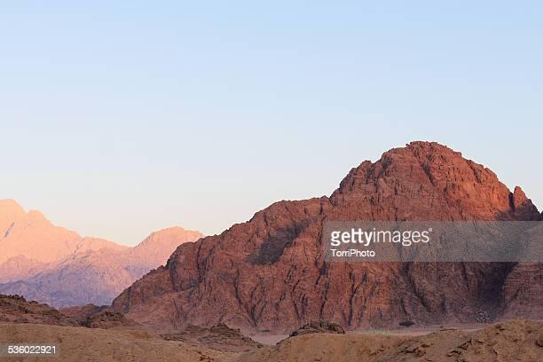 Mountain morning in Egyptian desert