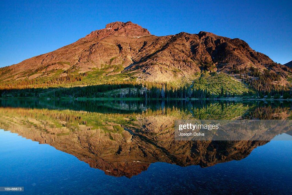 A mountain of a reflection... : Stock Photo