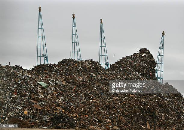 A mountain of scrap metal sits in Liverpool docks awaiting export to foundries and metal merchants abroad March 13 Liverpool England The global price...