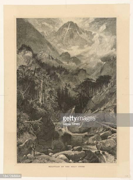 Mountain of the Holy Cross, Colorado, Thomas Moran, American, b. Britain, 1837–1926, Bogert, Wood engraving on cream wove paper, View of mountainous...