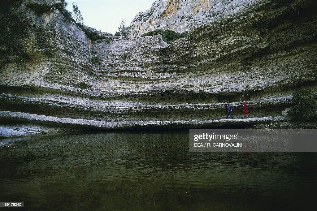 Mountain overlooking the river, Flumineddu River, Gennargentu National Park, Gulf of Orosei, Sardinia, Italy : News Photo