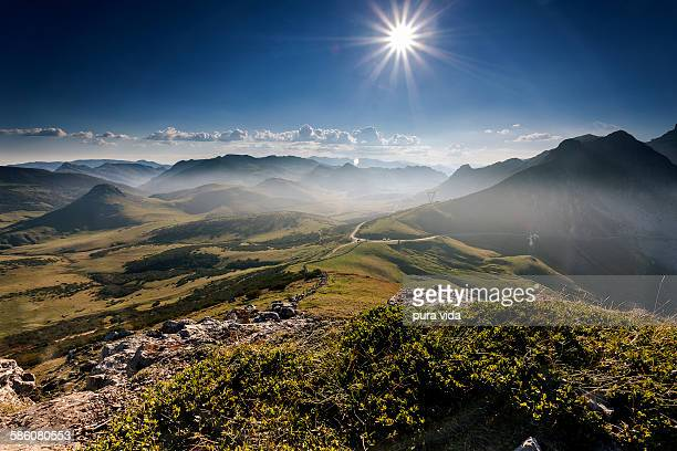 mountain pass - oviedo stock pictures, royalty-free photos & images
