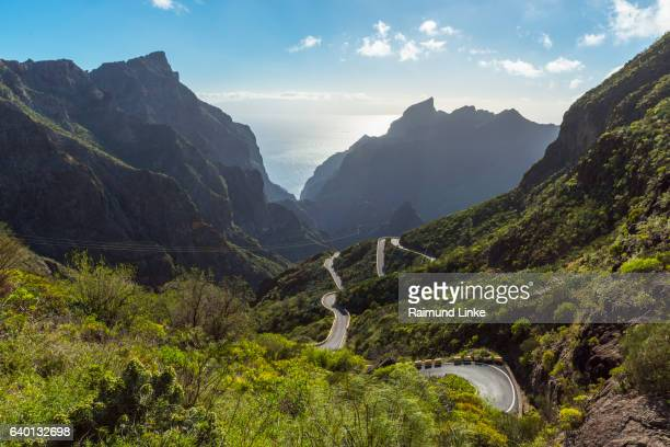 Mountain pass road, Teno mountains, Masca, Tenerife, Canary Islands, Spain