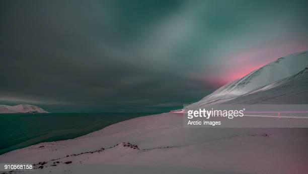 Mountain Pass, Wintertime, Iceland