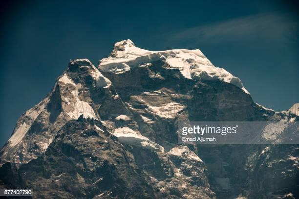 Mountain Peak along the trekking route to Everest Base Camp, Everest Region, Nepal - April 27, 2016