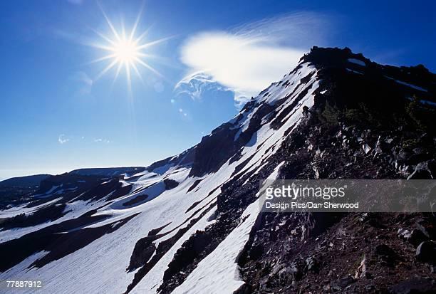 """""""mountain peak, broken top wilderness"""" - dan peak stock photos and pictures"""