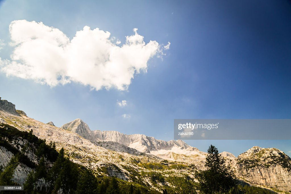 mountain peak in a summer day : Stock Photo