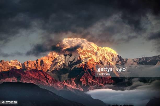 Mountain peak in Nepal Himalaya