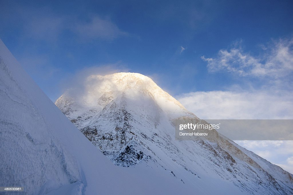 Mountain peak on sunset : Stock Photo