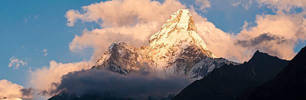 Mountain Peak Sunset Panorama Ama Dablam Sagarmatha NP Himalaya Nepal Wall Art