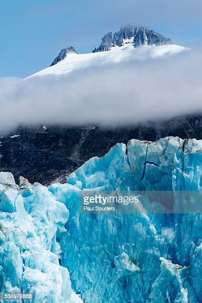 Mountain Peaks and Dawes Glacier, Alaska