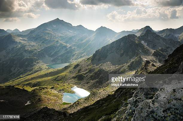 mountain peaks and lakes, pirin national park - pirin national park stock pictures, royalty-free photos & images