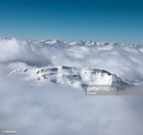 mountain peaks - surrounding stock pictures, royalty-free photos & images