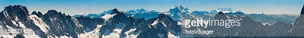 mountain peaks super panorama sulle alpi - monte rosa foto e immagini stock
