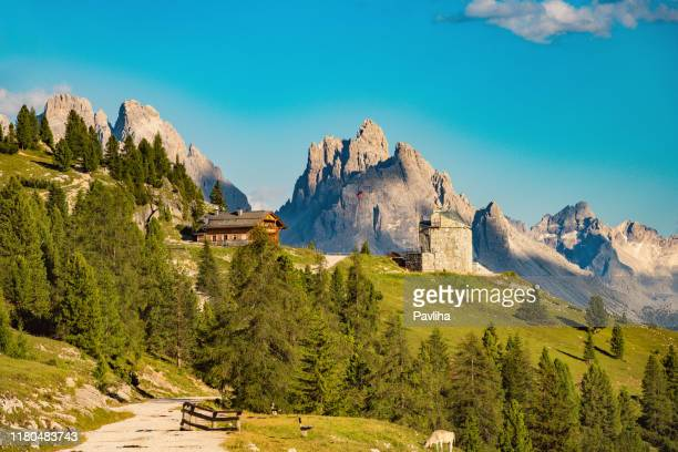 mountain plateau prato piazza, lavaredo national park, dolomites, european alps, italy,europe - unesco stock pictures, royalty-free photos & images