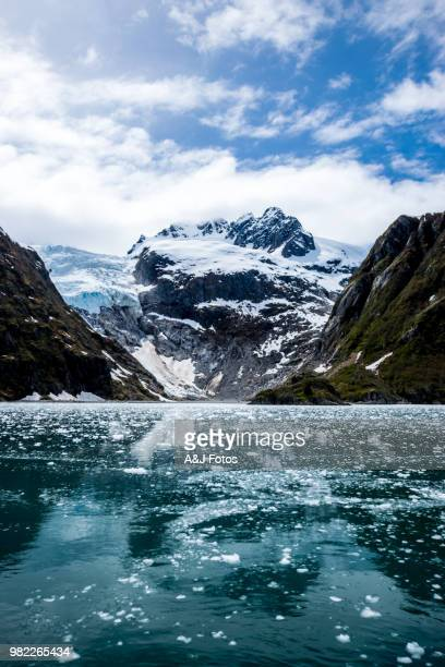 mountain range and glacier - north stock pictures, royalty-free photos & images