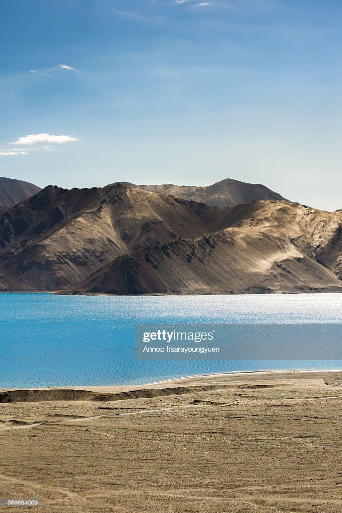 Mountain range at Pangong Lake. : Stock Photo