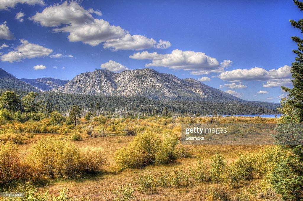 Mountain range in Lake tahoe : Stock Photo