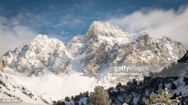 Mountain range in winter, Meribel, France
