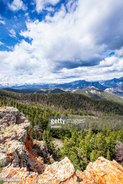 Mountain Range seen from Beartooth Highway, Wyoming