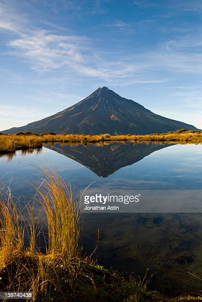 Mountain reflection in alpine lake