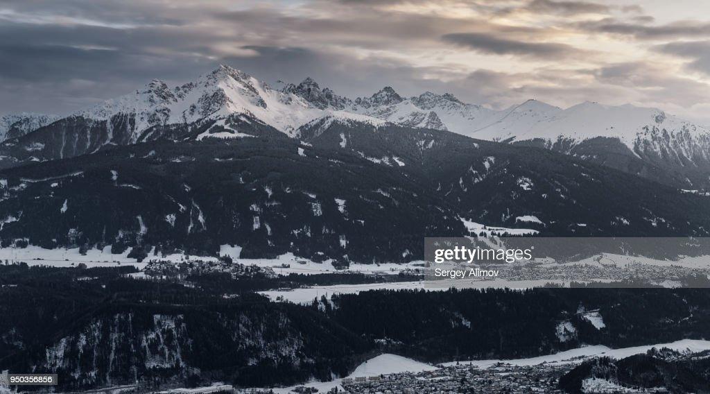Mountain ridge in Alps : Stock Photo