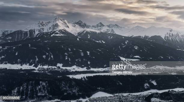 mountain ridge in alps - big bottom stock photos and pictures
