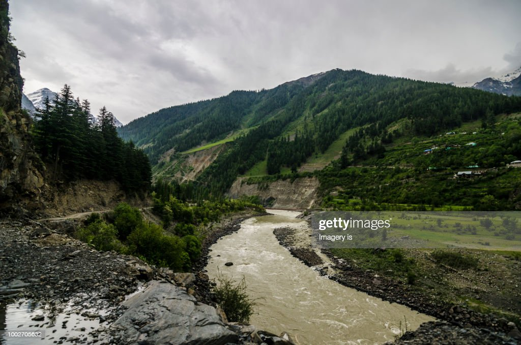 Mountain river in Himalayas, The Chenab : Stock Photo