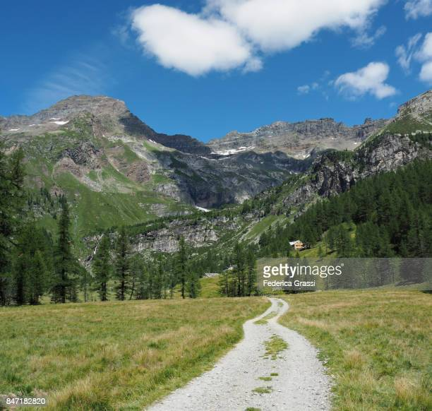Mountain Road at Alpe Veglia Nature Park in Northern Italy