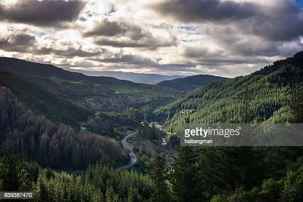 mountain road in hawkes bay - napier stock-fotos und bilder