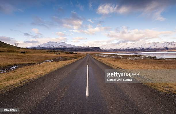 Mountain road in southeast iceland